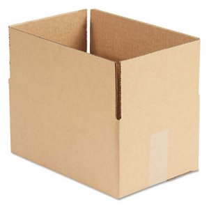 Genpak Brown Corrugated - Fixed-Depth Shipping Boxes, 12l x 8w x 6h, 25/Bundle UFS1286