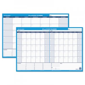 At-A-Glance 30/60-Day Undated Horizontal Erasable Wall Planner, 36 x 24, White/Blue AAGPM23328 PM233-28