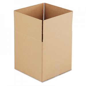 Genpak Brown Corrugated - Cubed Fixed-Depth Shipping Boxes, 14l x 14w x 14h, 25/Bundle UFS141414