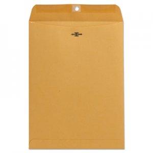 Genpak Kraft Clasp Envelope, #10 1/2, Square Flap, Clasp/Gummed Closure, 9 x 12, Brown Kraft, 100/Box UNV41907