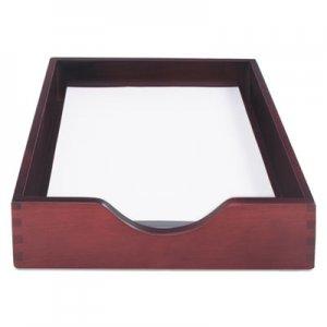 Carver Hardwood Letter Stackable Desk Tray, Mahogany CVR07213 CW07213