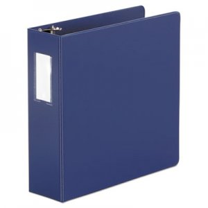 "Genpak Economy Non-View Round Ring Binder With Label Holder, 3"" Capacity, Royal Blue UNV35412"