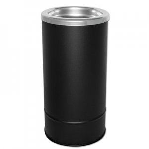 Ex-Cell Round Sand Urn w/Removable Tray, Black EXC160 160S BLX