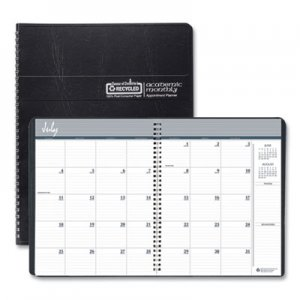 House of Doolittle Academic Ruled Monthly Planner, 14-Mo. July-August, 11 x 8 1/2, Black, 2019-2020 HOD26502