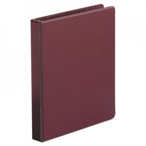 "Genpak Economy Non-View Round Ring Binder, 3 Rings, 1"" Capacity, 11 x 8.5, Burgundy UNV31406"