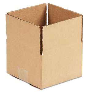 Genpak Brown Corrugated - Fixed-Depth Shipping Boxes, 6l x 6w x 4h, 25/Bundle UFS664