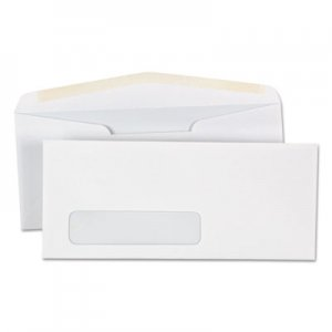 Genpak Window Business Envelope, #10, 4 1/8 x 9 1/2, White, 500/Box UNV35211