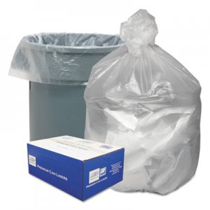 """Good 'n Tuff Waste Can Liners, 60 gal, 12 microns, 38"""" x 58"""", Natural, 200/Carton WBIGNT3860 GNT3860"""