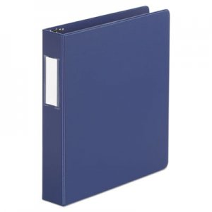 "Genpak Deluxe Non-View D-Ring Binder with Label Holder, 3 Rings, 1.5"" Capacity, 11 x 8.5, Royal"