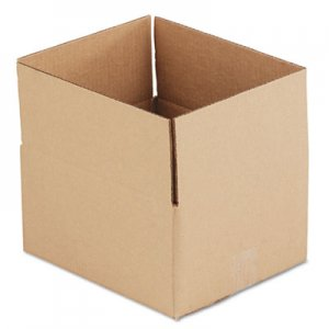 Genpak Brown Corrugated - Fixed-Depth Shipping Boxes, 12l x 10w x 6h, 25/Bundle UFS12106