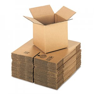 Genpak Brown Corrugated - Cubed Fixed-Depth Shipping Boxes, 8l x 8w x 8h, 25/Bundle UFS888