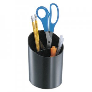 Genpak Recycled Big Pencil Cup, Plastic, 4 1/4 dia. x 5 3/4, Black UNV08108
