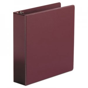 "Genpak Economy Non-View Round Ring Binder, 3 Rings, 2"" Capacity, 11 x 8.5, Burgundy UNV34406"