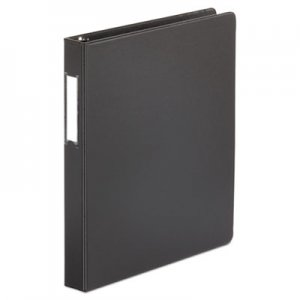 "Genpak Deluxe Non-View D-Ring Binder with Label Holder, 3 Rings, 1"" Capacity, 11 x 8.5, Black UNV20761"
