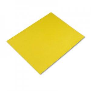 Pacon Peacock Four-Ply Railroad Board, 22 x 28, Lemon Yellow, 25/Carton PAC54721 54721