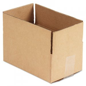 Genpak Brown Corrugated - Fixed-Depth Shipping Boxes, 10l x 6w x 4h, 25/Bundle UFS1064