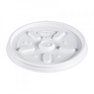 Dart Plastic Lids, for 8oz Hot/Cold Foam Cups, Vented, 1000 Lids/Carton DCC8JL 8JL