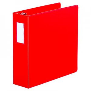"Genpak D-Ring Binder, 3"" Capacity, 8-1/2 x 11, Red UNV20793"
