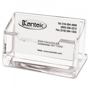Kantek Acrylic Business Card Holder, Capacity 80 Cards, Clear KTKAD30 AD-30