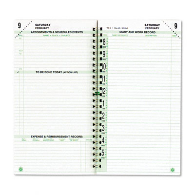 Day-Timer Original Dated Two-Page-per-Day Organizer Refill, Jan.-Dec., 3-1/2 x 6-1/2, 2012