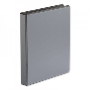 "Genpak Comfort Grip Deluxe Plus D-Ring View Binder, 1"" Capacity, 8-1/2 x 11, Black UNV30711"