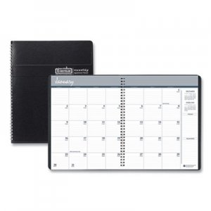 House of Doolittle Recycled Ruled Monthly Planner w/Expense Log, 8 3/4 x 6 7/8, Black, 2019-2021