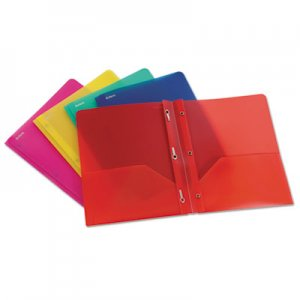 """Oxford Two-Pocket Portfolio, Tang Fastener, 1/2"""" Capacity, Assorted Colors, 25/Box OXF99811 99811EE"""