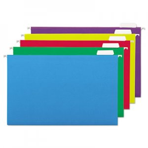 Genpak Hanging File Folders, 1/5 Tab, 11 Point, Legal, Assorted Colors, 25/Box UNV14221 UNV14221EE