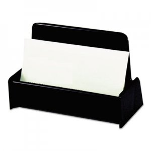 Genpak Business Card Holder, Capacity 50 3 1/2 x 2 Cards, Black UNV08109