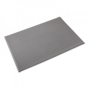 Crown Ribbed Anti-Fatigue Mat, Vinyl, 36 x 120, Gray CWNFL3610GY FL 3610GY