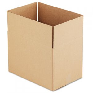 "Genpak Fixed-Depth Shipping Boxes, Regular Slotted Container (RSC), 18"" x 12"" x 12"", Brown Kraft, 25/Bundle UFS181212"
