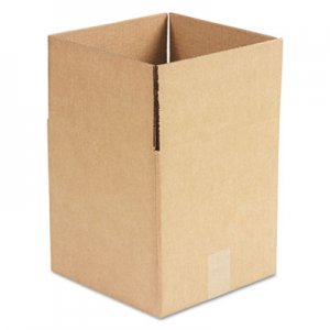 Genpak Brown Corrugated - Cubed Fixed-Depth Shipping Boxes, 10l x 10w x 10h, 25/Bundle UFS101010