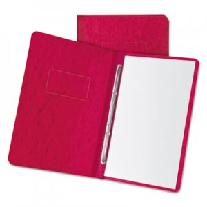 """Oxford Pressboard Report Cover, 2 Prong Fastener, Letter, 3"""" Capacity, Executive Red OXF12911 12911"""