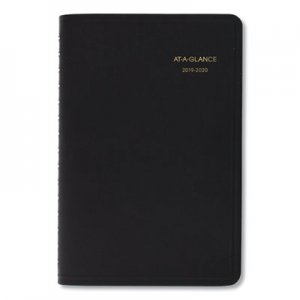 At-A-Glance Daily Appointment Book with 15-Minute Appointments, 8 x 4 7/8, Black, 2018-2019 AAG7080705 70