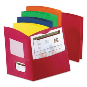 Oxford Contour Twin-Pocket Reycled Paper Folders, 100-Sheet Capacity, Assorted Colors OXF5062500 5062500