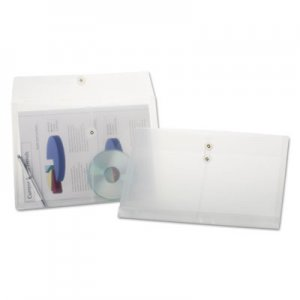 Pendaflex Poly String & Button Envelope, String & Button Closure, 8.5 x 14, Clear, 3/Pack PFX638143 63814-3