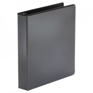"Genpak Economy Round Ring View Binder, 3 Rings, 1.5"" Capacity, 11 x 8.5, Black UNV20971"
