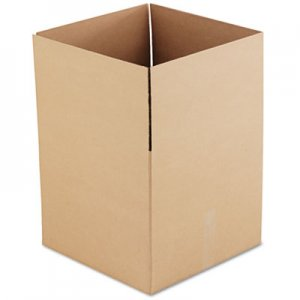 "Genpak Fixed-Depth Shipping Boxes, Regular Slotted Container (RSC), 18"" x 18"" x 16"", Brown Kraft, 15/Bundle UFS181816"