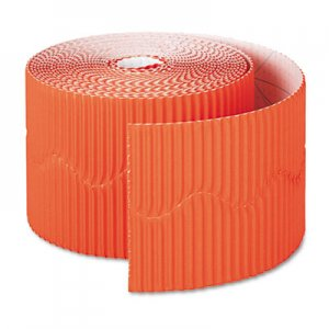 """Pacon Bordette Decorative Border, 2 1/4"""" x 50' Roll, Orange PAC37106 37106"""