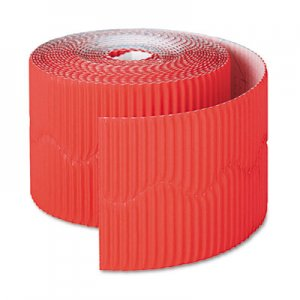 """Pacon Bordette Decorative Border, 2 1/4"""" x 50' Roll, Flame Red PAC37036 37036"""