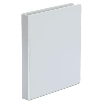 "Genpak Economy Non-View Round Ring Binder, 1"" Capacity, White, 12/Carton UNV31404CT"