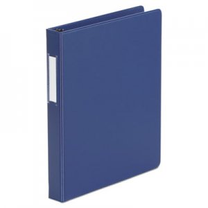 "Genpak Deluxe Non-View D-Ring Binder with Label Holder, 3 Rings, 1"" Capacity, 11 x 8.5, Royal Blue"