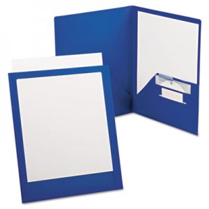 Oxford ViewFolio Plus Polypropylene Portfolio, 50-Sheet Capacity, Blue/Clear OXF57470 57470EE