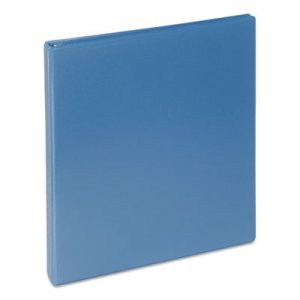 "Genpak Deluxe Round Ring View Binder, 3 Rings, 1"" Capacity, 11 x 8.5, Light Blue UNV20713"