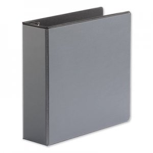 "Genpak Comfort Grip Deluxe Plus D-Ring View Binder, 3"" Capacity, 8-1/2 x 11, Black UNV30751"
