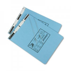 "Genpak Pressboard Hanging Binder, 2 Posts, 6"" Capacity, 9.5 x 11, Light Blue UNV15431 A7011722A"