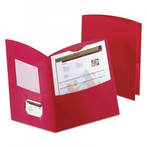 Oxford Contour Two-Pocket Folder, Recycled Paper, 100-Sheet Capacity, Red OXF5062558 5062558