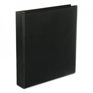 "Genpak Slant-Ring View Binder, 3 Rings, 1.5"" Capacity, 11 x 8.5, Black UNV20743"