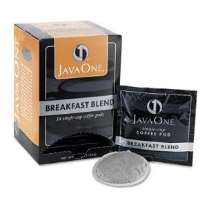 Java One Coffee Pods, Breakfast Blend, Single Cup, 14/Box JAV30220 39830106141