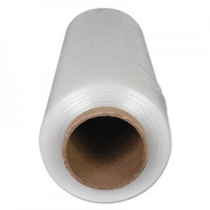 "Genpak High-Performance Handwrap Film, 18"" x 1500ft, 12mic (47-Gauge), Clear, 4/Carton UNV64718"